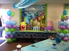 monsters inc Birthday Party Ideas   Photo 8 of 26   Catch My Party