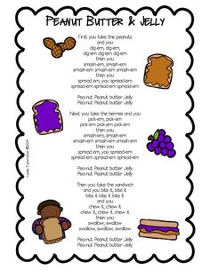Are you are peanut butter and jelly lover? I am, my mom makes the best pb&j! Well, even if you don't love pb&j, I bet your little ones will love singing about it! The Peanut Butter & Jelly song is one of my preschoolers favorite songs of all time Preschool Fingerplays, Preschool Music, Preschool Ideas, Circle Time Ideas For Preschool, Toddler Circle Time, Preschool Classroom, Songs For Toddlers, Kids Songs, Songs For Preschoolers