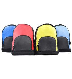 6202 Foldable Back Pack [BP 6202] Size: 27cm(L) x 12cm(W) x 40cm(H) Material: Polyester 1680D (Soft) Colour: Navy Blue, Red, Lime Green, Light Blue