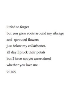 i tried to forget