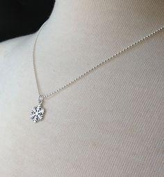 #Snowflake Necklace Sterling Silver Snowflake by GirlBurkeStudios