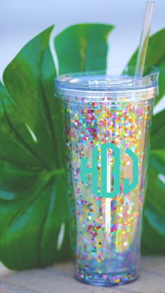Have you ever seen a cup this pretty?! This is a *NEW* color in the Monogrammed Tumbler- only at Marleylilly.com!