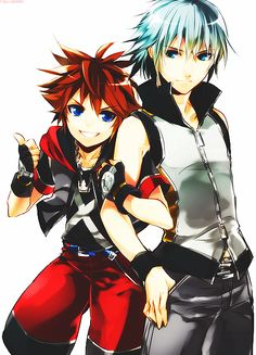 Sora & Riku - Kingdom Hearts Dream Drop Distance