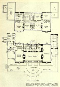 Floor plans for the Villa Virginia, Stockbridge