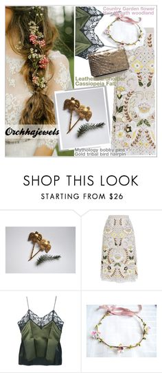 Orchhajewels by teoecar on Polyvore featuring Needle & Thread, Sharon Wauchob, country, cassiopeiafall and orchhajewels