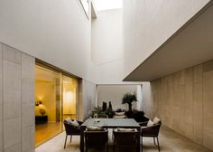 AGi Architects completes Kuwait house featuring four secluded roof terraces Swiss Architecture, Architecture Details, Interior Architecture, Interior Design, Outdoor Dining Set, Indoor Outdoor Living, Outdoor Seating, Outdoor Spaces, Outdoor Decor