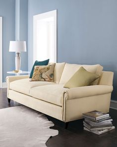 """Ellsworth"" Sofa by Old Hickory Tannery at Horchow."