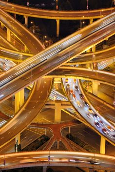 Royalty-free Image: Aerial View of A Multi Level Stack Interchange