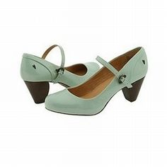 Frye Lisa T-Strap in Seafoam. From years ago. I just like the duck egg color.