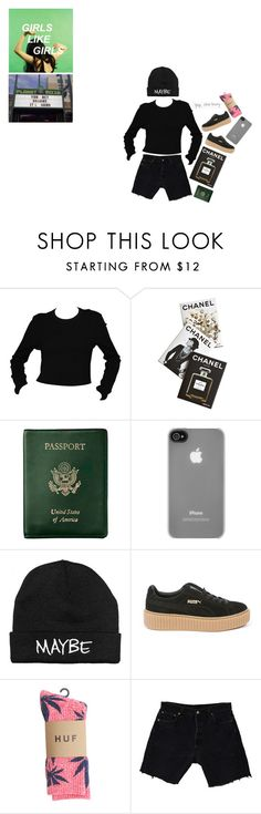 """""""📗"""" by ideallylovely ❤ liked on Polyvore featuring Assouline Publishing, Royce Leather, Incase, Puma, HUF, Levi's and GET LOST"""