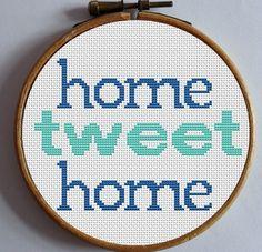 Twitter en punto de cruz