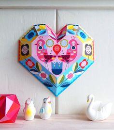 DIY Paper Heart By Ellen Giggenbach