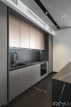 Apartment in Park Avenue VIP - Dezign Ark (Beta) - sina Modern Kitchen Interiors, Luxury Kitchen Design, Kitchen Room Design, Modern Kitchen Cabinets, Contemporary Kitchen Design, Best Kitchen Designs, Kitchen Cabinet Design, Home Decor Kitchen, Interior Design Kitchen