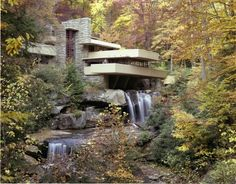 Fallingwater, a house located in the hills of western Pennsylvania