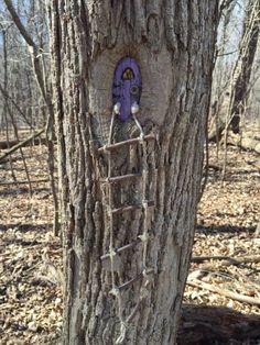 A hidden treasure of Monroe County, NY. Inside Tinker Nature Park you'll find a magical fairy trail! Fairy Doors On Trees, Fairy Tree Houses, Fairy Garden Doors, Fairy Garden Houses, Gnome Garden, Diy Fairy Door, Forest Fairy, Miniature Fairy Gardens, Fairy Art