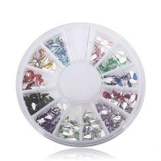 Water Droplet Crystal Glitter Rhinestone Nail Decoration $1.34