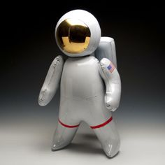 Ceramic Sculptures of Inflatable Toys by Brett Kern