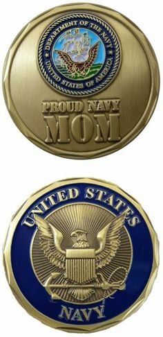 Navy Mom Challenge Coin