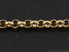 14k Gold Filled Small Rolo Chain Heavy Weight Round by Beadspoint, $12.99