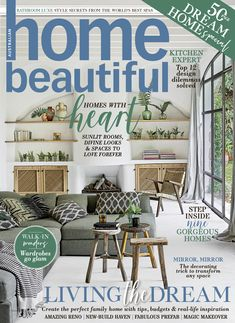 Home Beautiful May issue is on sale now - get ready to create your dream home Glam Mirror, Best Spa, Beautiful Cover, Australian Homes, Good House, Outdoor Furniture Sets, Outdoor Decor, Step Inside, Home And Living
