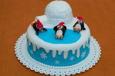 Cute pinguïn cake