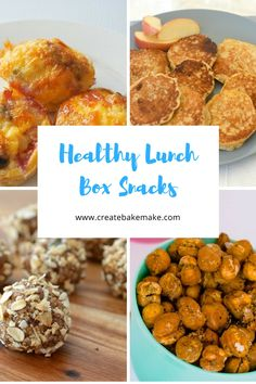 Healthy Snacks For Kids Healthy Lunch Box Snacks - Create Bake Make - This collection of healthy lunch box snacks includes some of their favourites (and mine too!) and I hope you and your family enjoy them too. Healthy Lunches For Kids, Healthy Filling Snacks, Healthy Eating, Healthy Food, Healthy Bars, Healthy Fruits, Lunch Box Recipes, Lunch Snacks, Lunch Foods