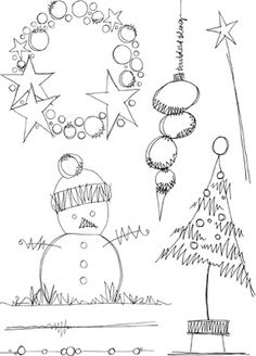 Discover thousands of images about Jo Firth-Young: Christmas! Christmas Doodles, Christmas Drawing, Christmas Art, All Things Christmas, Winter Christmas, Doodle Drawings, Doodle Art, Illustration Noel, Illustrations