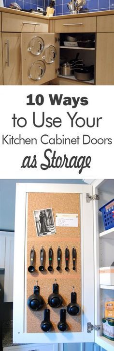Kitchen Cabinet Storage, Kitchen Storage, Kitchen Organization, Organization Hacks, Organization Tips and Tricks, How to Organize Your Home, Home Organization, Dream Kitchen