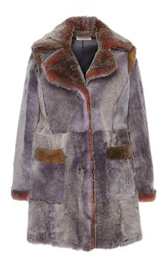Shearling Coat by Marco de Vincenzo for Preorder on Moda Operandi