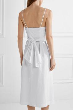 Elizabeth and James - Oak Stretch-cotton Poplin Midi Dress - White - US10