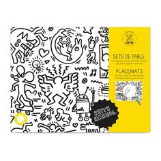OMY - Coloring Placemats - Keith Haring