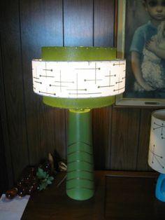 Mid Century Vintage Style 3 Tier Fiberglass Lamp Shade Modern Atomic Retro GW3
