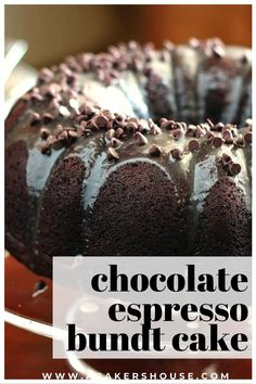 Deeply rich with chocolate flavor, this chocolate espresso bundt cake is improved with the addition of espresso powder. Chocolate and espresso are a perfect match and make the chocolate cake rich and delicious! #chocolatecake #bundt #cake #espresso #abakershouse Chocolate Bundt Cake, Chocolate Flavors, Espresso Powder, Bunt Cakes, Chocolate Espresso, Unsweetened Chocolate, Perfect Match, Sweet Recipes, Beverage