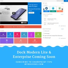 Dock Modern Lite for small businesses and Dock Modern Enterprise will roll out between mid to late June Request a demo today to get started on a better path for your business communication. Sharepoint Design, Sharepoint Intranet, Intranet Portal, Digital Campaign, Cloud Based, Ui Ux Design, Information Technology, Non Profit, Android Apps