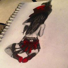 My Pin up girl drawing