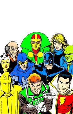 Justice League #1 by Kevin Maguire, Terry Austin, and Gene D'Angelo.