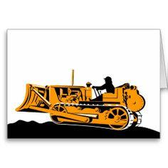 bulldozer construction equipment machinery card
