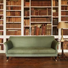 The Holland Sofa. A Regency style mahogany reproduction of an original. Decor Interior Design, Interior Decorating, Holland, Georgian Interiors, Traditional Cabinets, Reproduction Furniture, Beautiful Sofas, Beautiful Interiors, Home Libraries