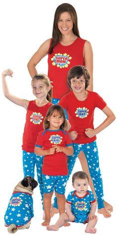 Happy #MothersDay to Super Mom (and her Super Kids and Dog)! Mommy & Me ''Super'' Pajamas from PajamaGram starting at $19.99 (PJs for Dogs)