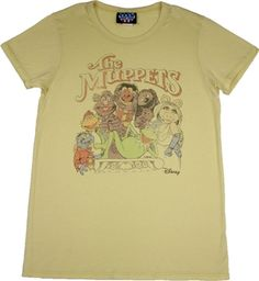 Women's Muppets T-Shirt by Junk Food Junk Food Tees, Cool T Shirts, Tee Shirts, Kermit The Frog, Cartoon T Shirts, Vintage Cartoon, Bear Animal, Mens Tops, Color Yellow