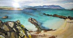 Iona watercolour Watercolour, Fine Art, Pen And Wash, Watercolor Painting, Watercolor, Watercolors, Visual Arts, Watercolour Paintings, Water Colors