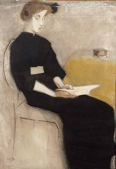 ✉ Biblio Beauties ✉ paintings of women reading letters & books - Helene Schjerfbeck