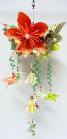 Exquisite Flower Origami Mobile with by StellarOrigami on Etsy