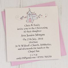 Christening invitation - girl