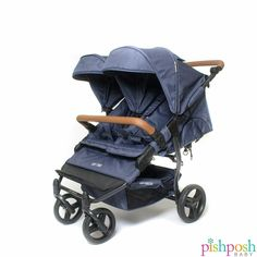 Learn more about the Easy Twin double stroller that is narrow enough to fit through standard doorways! Order yours today only @ Pishposhbaby! Twin Strollers, Double Strollers, Striped Dining Chairs, Best Lightweight Stroller, Baby Buggy, Fantastic Baby, Bugaboo, Baby Winter, Cool House Designs