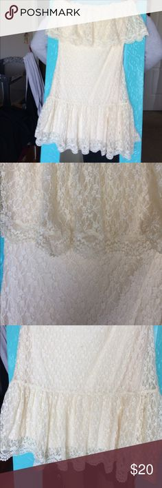 Hippie Wedding Dress Hippie meets wedding, never been worn so you won't have to fear about a hex being put on your wedding. Boho Rustic, one would call it hobo. Moda International Dresses Strapless