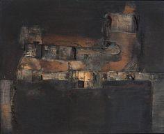 Estructura Verde y Negra, 1961 Lucio Muñoz paintings, plastic arts, visual arts, fine arts, abstract