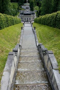 Water steps at Schloss Linderhof in Bavaria, Germany; Bayern, Deutschland