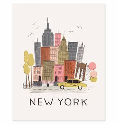 NYC Illustrated Art Print -- Rifle Paper Co. $40