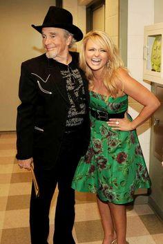 Merle Haggard, here with Miranda Lambert.